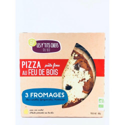 Pizza 3 fromages 400g - LES P'TITS CHEFS